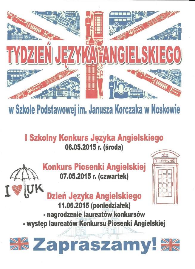 Tydzień Języka Angielskiego W Naszej Szkole Szkoła